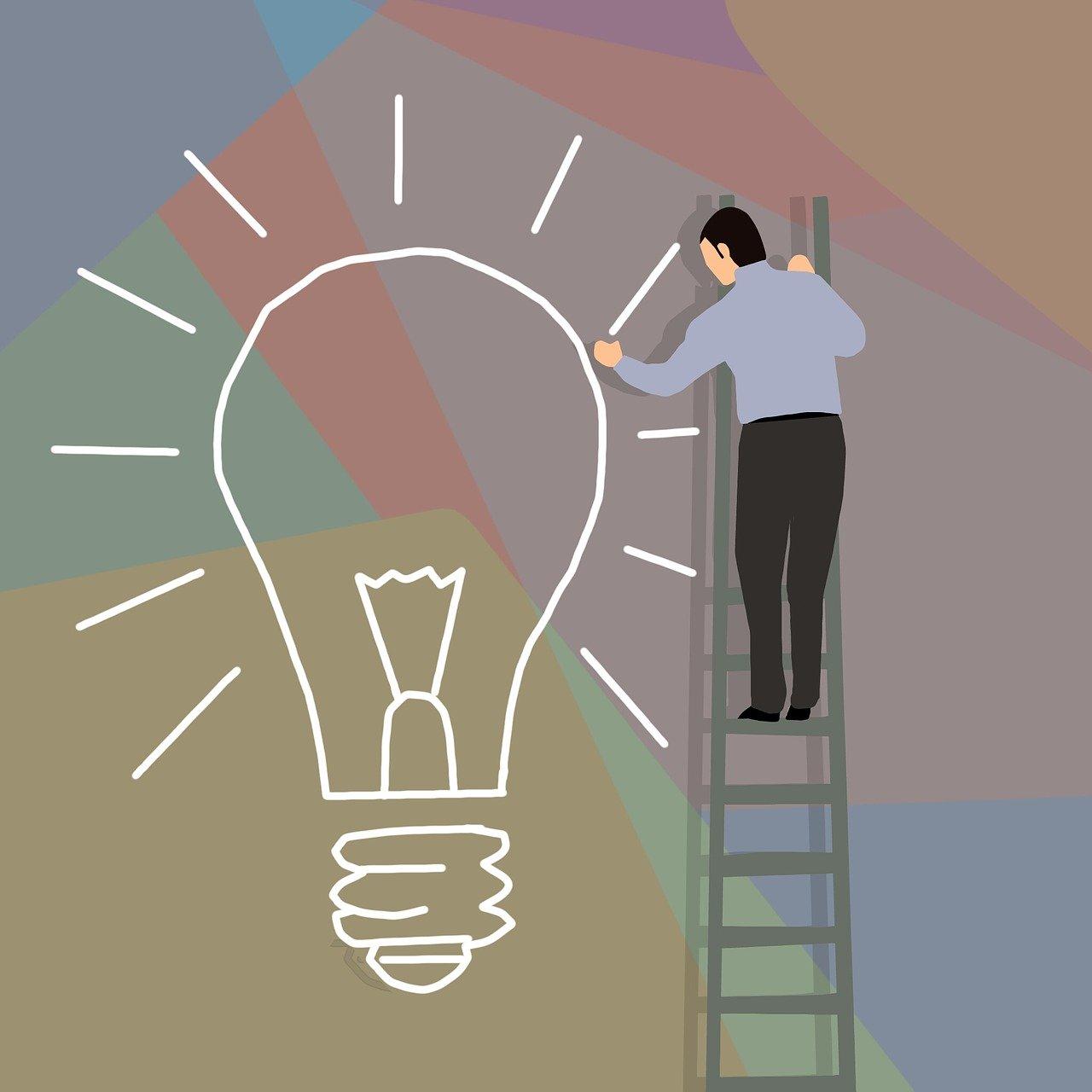bulb, businessman, drawing